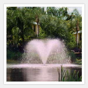 Floating Lake Water Fountains - Trumpet Water Fountain